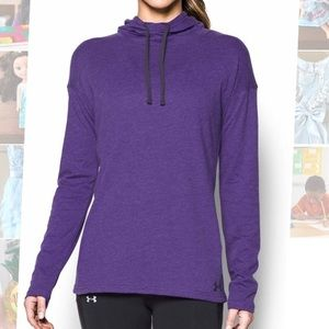 NWT Under Armour athletic top pullover purple Sm